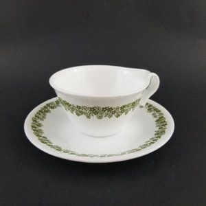 Corelle by Corning Daisy Spring Tea Cup & Plate